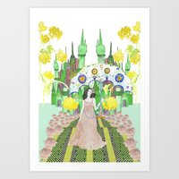 saga Art Prints featuring Saga by Elin Emanuelsson