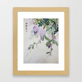 Wisteria Flowers Framed Art Print