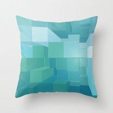 Blue and Green 3D Throw Pillow