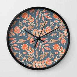Loquacious Floral Wall Clock