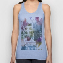 N.Y. collage color burst Unisex Tank Top