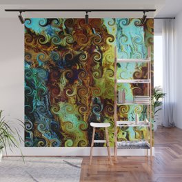 Colorful Wood Spirals Background #Abstract #Nature Wall Mural