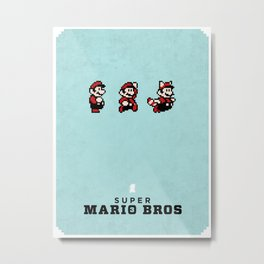 Super Mario Bros 3 Metal Print