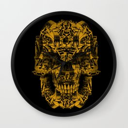 Skull Heavy Equipment Wall Clock