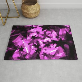 Dark purple cosmic stars with glow in the distance from the foil in perspective. Rug