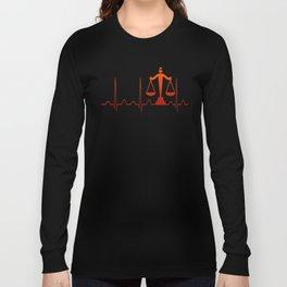 LAWYER HEARTBEAT Long Sleeve T-shirt