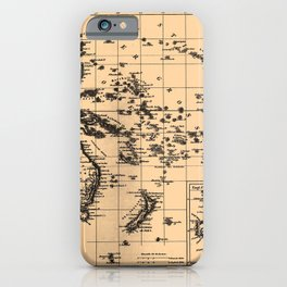 Iconographic Encyclopedia of Science, Literature and Art (1851) - Map of Australia iPhone Case