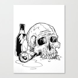 Skull Abuse  Canvas Print