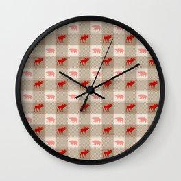 Woodland Patchwork Wall Clock