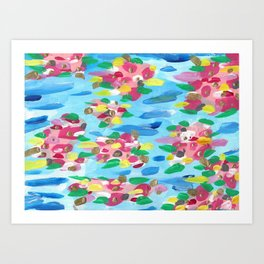Abstract Searose Candy Colorplosion Art Print