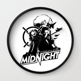 The Office - Threat Level Midnight Movie Poster Wall Clock
