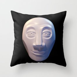 Alien-human hybrid head Throw Pillow