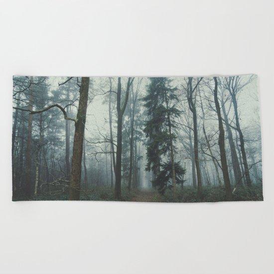 Misty Woods II #adventure #photography Beach Towel