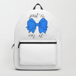 Blue Bow Backpack