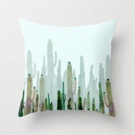 horizont cactus Throw Pillow