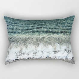 Clear Captiva Waves Rectangular Pillow
