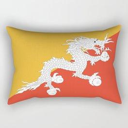 Bhutanese flag Patriotic Bhutan Flag Rectangular Pillow