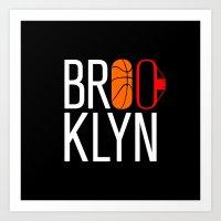 brooklyn Art Prints featuring Brooklyn by David Bastidas