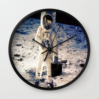 lawyer Wall Clocks featuring Astronaut lawyer  by rivercbishop