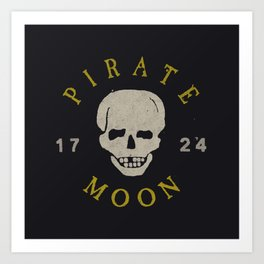 Pirate Moon Art Print