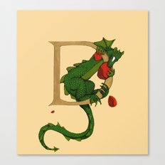 D is for Dragon 2016 Canvas Print