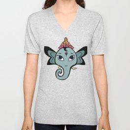 Cute Little Ganesha Unisex V-Neck