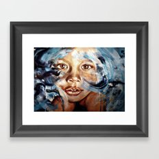 In my dreams, nothing fades away - WATERCOLOR & ACRYLIC painting Framed Art Print
