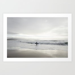 Oregon Surfer Art Print
