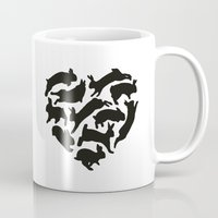 bunnies Mugs featuring Bunnies by Silke Spingies