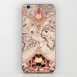 Wizarding Around the World Map iPhone Skin