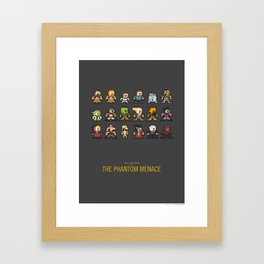 Mega Star Wars: Episode I - The Phantom Menace Framed Art Print