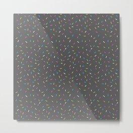 Sprinkles, Please (Dark Grey) Metal Print