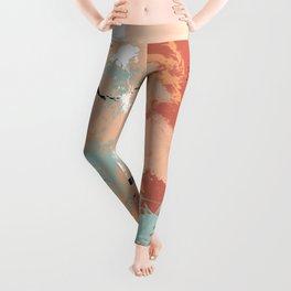 Unrestrained, Abstract Art Brushstrokes Leggings