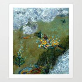 Joy of Rain ii Art Print