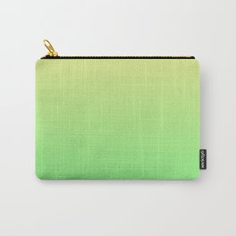 Green to Yellow Ombre Shaded Lemon and Lime Sorbet Ice Cream Gelato Carry-All Pouch