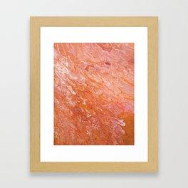 Fluid Tangerine Framed Art Print