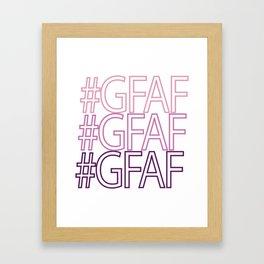 Gluten Free #GFAF Framed Art Print