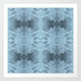 Snow Flake Dark Quadrant Art Print