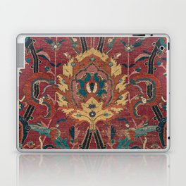Flowery Arabic Rug II // 17th Century Colorful Plum Red Light Teal Sapphire Navy Blue Ornate Pattern Laptop & iPad Skin