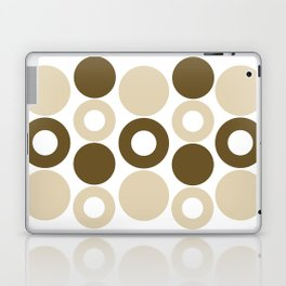 Brown Circles, Tan Dots, Pattern, Digital Design Laptop & iPad Skin