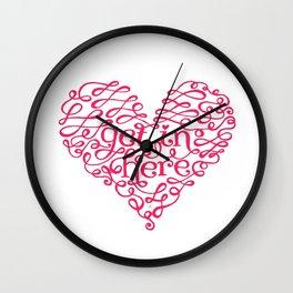 Get In My Heart Wall Clock