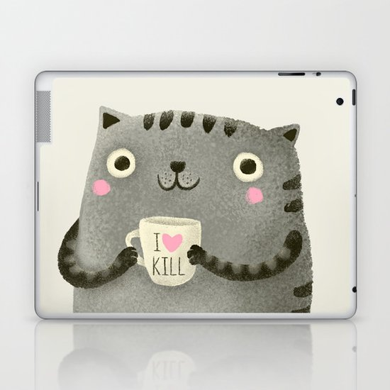 I♥kill (brown) Laptop & iPad Skin