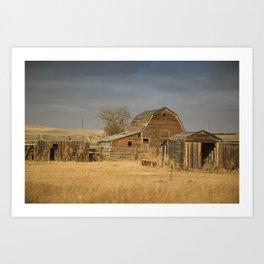 Crossing Montana Art Print