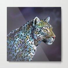 Leopard Moonlight in A-Minor Metal Print