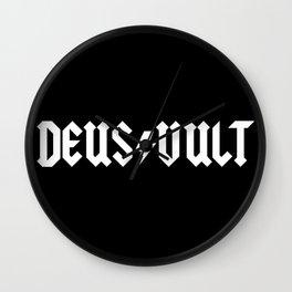 Deus Vult Wall Clock