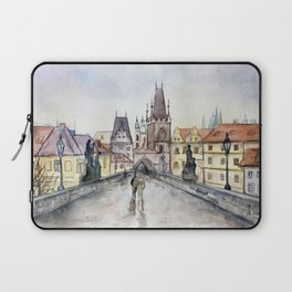 After the Rain Prague Charles Bridge Laptop Sleeve
