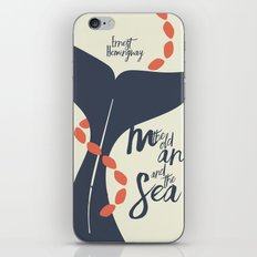 the Old Man and The Sea - Hemingway Book Cover Illustration iPhone & iPod Skin