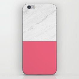Marble And Pink iPhone Skin