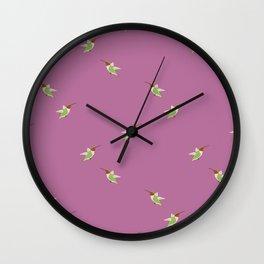 Hummingbird pattern- Purple Wall Clock