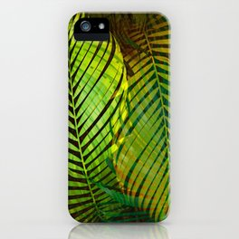 TROPICAL GREENERY LEAVES iPhone Case